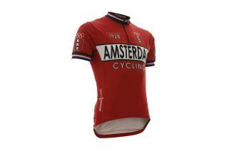 Vintage Amsterdam wielershirt rood